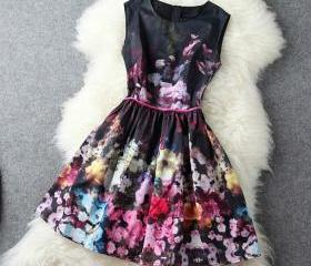 A 090412 High-End Retro Sleeveless Vest SkirtA1