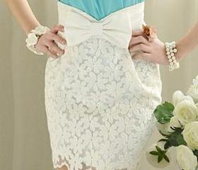 Embroidered bow skirt AECACD