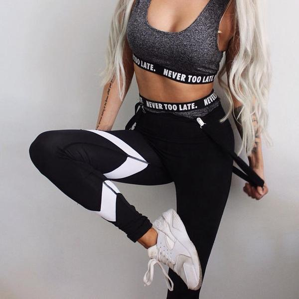 Sexy Women Tight Sport Yoga Stretch Pants Trousers Sweatpants OM161150
