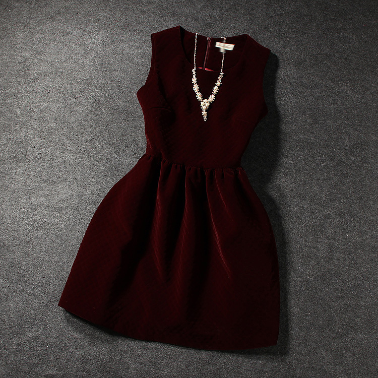 Fashion velvet sleeveless dress BN1112BD