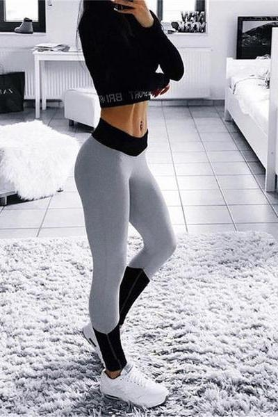 Sexy Women Multicolor Stretch Yoga Sports Pants Trousers Sweatpants OM161133