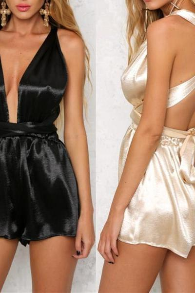 Sexy Backless Romper Jumpsuit OM161016