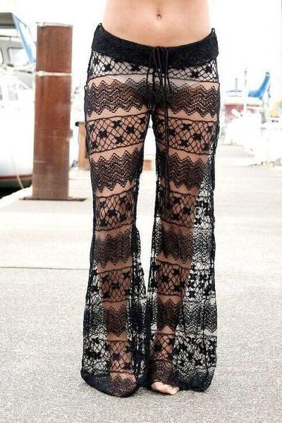 Women's Sexy Lace Pants Trousers OM160970