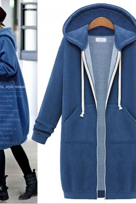 Fashion hooded zipper jacket 6210849