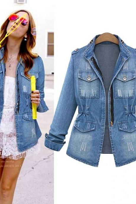 Fashion bodycon denim jacket 156381