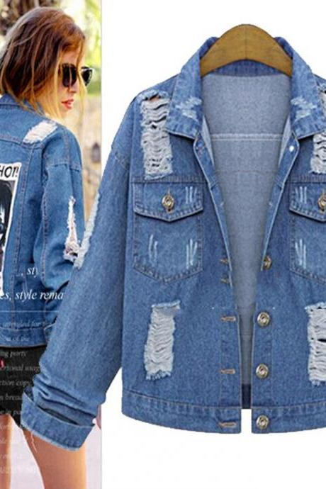 Fashion patch denim jacket 8921071