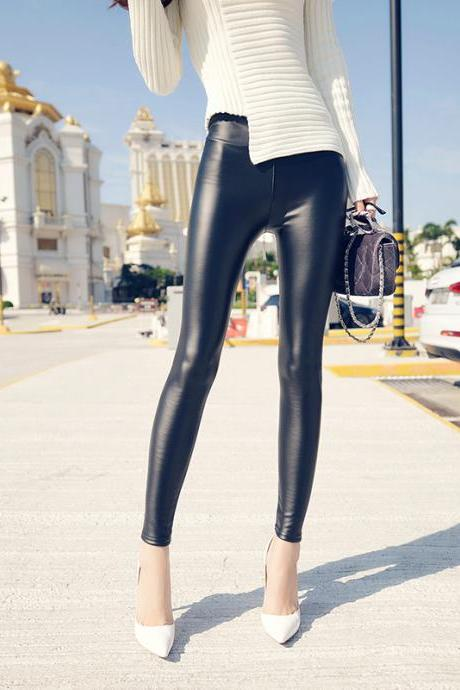 Fashion solid color pants tight pants feet pants 8152032