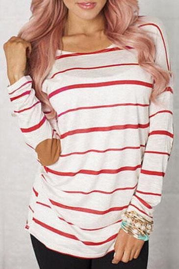 Fashion striped patch shirt 3512097