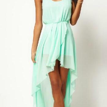Irregular chiffon dress AFBEJ